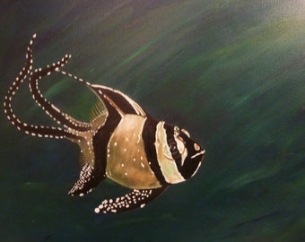 Fish Painting - Acrylic on canvas