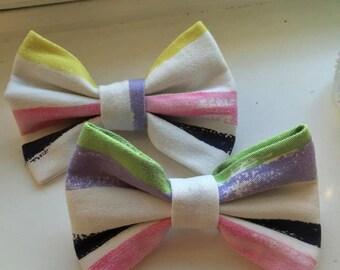 1pc striped hair bow