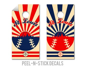 St. Louis Cardinals Cornhole Board Decals