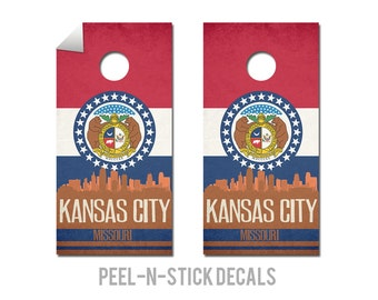 Kansas City State Flag Skyline Decals