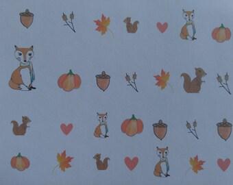 Autumn / Fall Woodland Creatures Kawaii