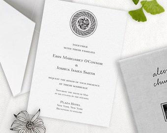 Formal Celtic / Irish Wedding Invitation