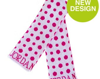 Polka Dot Personalized Scarf