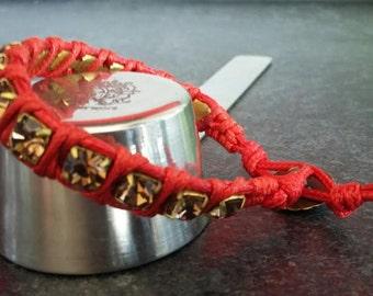 "Large Crystal bracelet Chan Luu ""Coral"" Smoke """