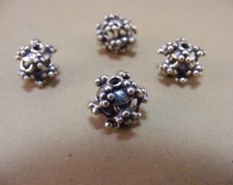 Sterling Silver Handmade Bali Bead Style B215