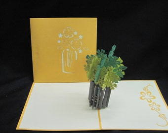 Flower 3-d pop up card