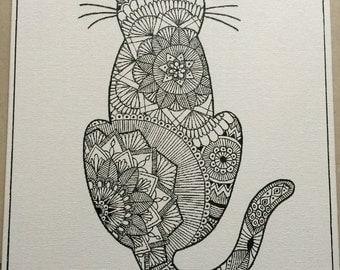 Mehndi cat