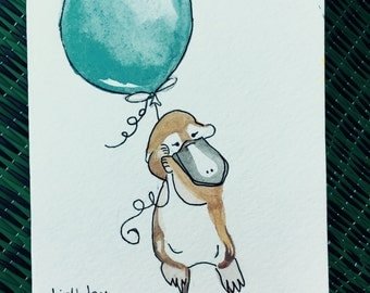 Watercolor Birthday Cards-- Animals
