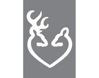 Deer Heart  (Vinyl Decal)