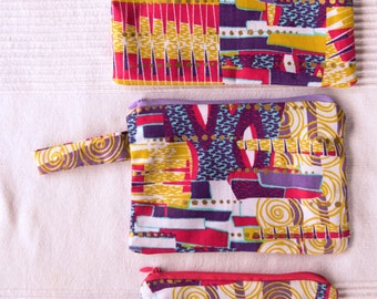 Woodin Color Mix Make Up Bags (Set of 3)