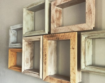 "Distressed shadow box shelf -10"" x 8"" x 4"""