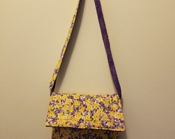 Daffodil yellow quilted handbag