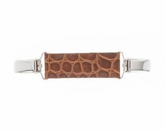 Kroko mini belt brown