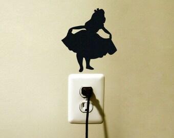 Alice in Wonderland Decal Vinyl Sticker Light Switch Bunny Laptop MaBook Alice Disney