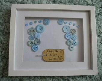 New baby boy button art
