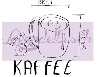 Coffee, DigiStamp, digital stamp (PU)