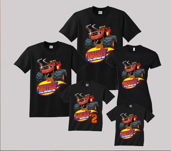 blaze birthday shirt custom personalized shirts for all