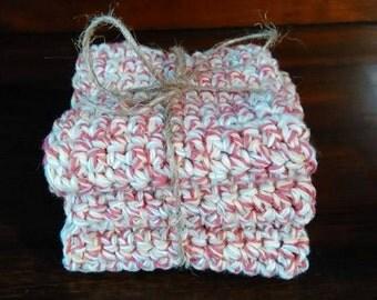 Crocheted dish cloths 7x7 set of 3