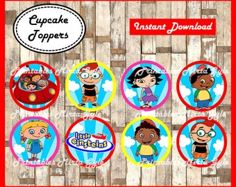 Little Einsteins cupcakes toppers, printable Little Einsteins party toppers,  Little Einsteins cupcakes toppers