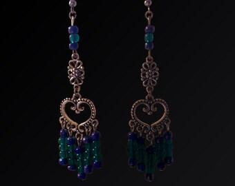 Blue&Green Tribal Earrings
