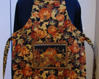 Autumn Feast--Child's Quilted Apron