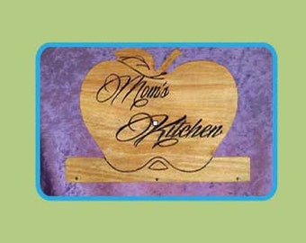 Mom's Apple - approx 5.5 in. high x 6 in. wide x 2 in. deep
