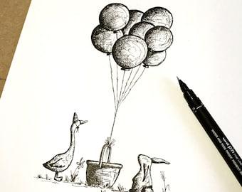 Personalised Balloons Print