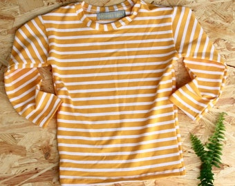White and Yellow Stripes Sweater
