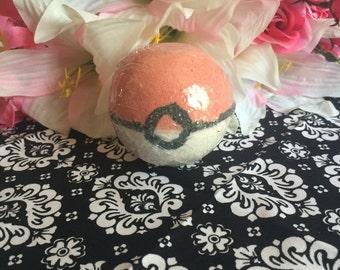 Pokeball Bath Bomb with Pokemon inside!