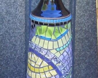 Mosaic outdoor light 12V hand made garden art Mornington Peninsula