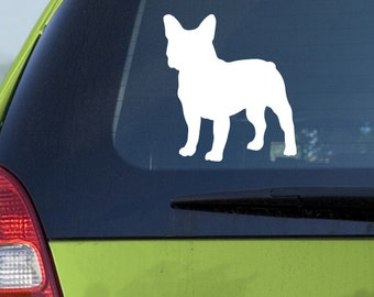 French bulldog Car Decal Vinyl French bulldog Car Sticker