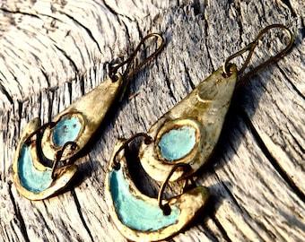 Bronze earrings - IXTLI