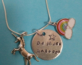 Be More Unicorn charm necklace