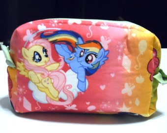 Small rainbow My Little Pony cosmetics bag