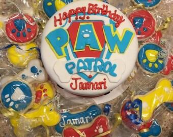 Paw Patrol Themed Cookies