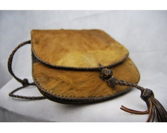 Goat leather hand bag