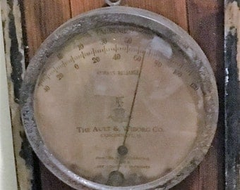 Great Old Thermometer On Old Barn Board