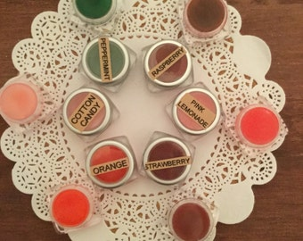Orange lip balm, colored lip balm, glossy lip balm, lip balm all natural, gift for teen, gift idea, moisturizing lip balm, tinted lip gloss