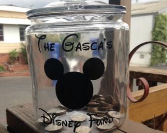 Disney Fund Jar, Fund Jar, Savings Jar, Money Jar, cyber monday sale, christmas gift disney, sale, birthday gift