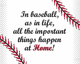 Instant Digital Downloadable Quote about Baseball, 1 of 3 Prints