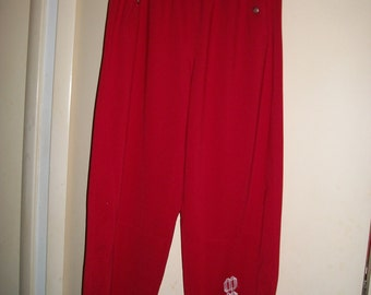Mens Marithe Francois Girbaud Vintage 90s Red Workout/Track Pants Size XL