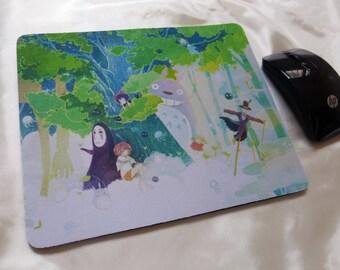 Studio Ghibli Chihiro, No Face, Totoro, Kiki, Scarecrow Thick Rubber Mousepad