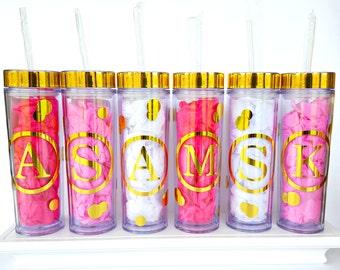 Personalized Tumbler, Monogrammed Tumbler, Gold Foil Tumbler, Personalized Gift, Bridal Party Gift, Personalized Cup, Monogrammed Cup