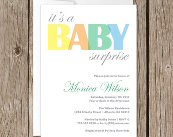 Printable Baby Shower Invitation | Evite | Instant Download | Itu0027s A Baby