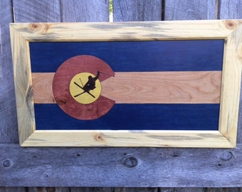 Colorado Flag Freestyle Skier - Made to Order