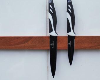 wooden magnetic knife holder, elegant and stylish