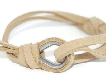 SUEDE JEWELRY - leather bracelet, women suede bracelet, women sailing bracelet, nautical jewelry, suede accessories, men suede bracelet