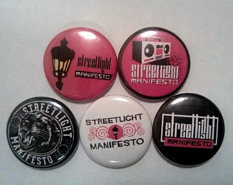"5 x Streetlight Manifesto 1"" Pin Button Badges ( ska punk everything goes numb )"