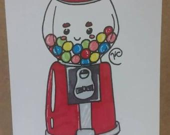 Gumball Machine Card