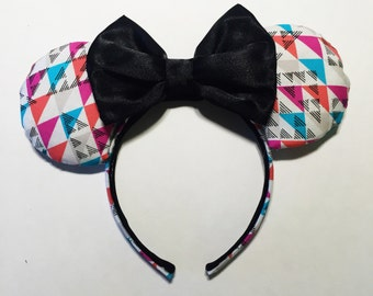 Modern Triangle Geometric Minnie Ears